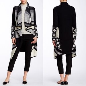 Vince Graphic Texture Cardigan